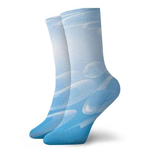 Verctor Lässige Crew Socken, Muster, Seifenblase, Blase, Wirbel, Whirlpools, Spirale, Rotation, Schaum, Polyester, Länge: 30 cm