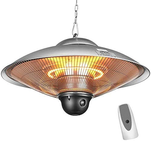XH&XH Industrial Electric Pendant Heater Ceiling Ceiling Heater Indoor/Outdoor Halogen Heater IP34 Waterproof with 2 Power Levels with Remote Control - 2100W