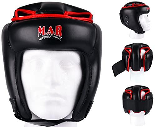 MAR International Ltd Kickboxing Head Guard Boxing Thai Boxing Mma Muay Thai Taekwondo Karate Judo Training Junior Black Junior