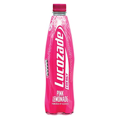 Lucozade Energy Pink Lemonade - 12 Bottles x 1L - Pink Lemonade Flavour - Glucose Energy Drink - Made with Sugars & Sweeteners - Refreshing & Great Flavour - Carbonated Energy Drink