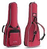Rocktile ASBAG-R - Funda guitarra clásica 1/2, correas acolchadas tipo mochila, color burdeos
