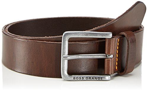 BOSS Orange Herren Gürtel Jeek, Gr. 105 cm, Braun (Dark Brown 202)