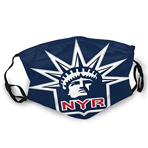 New York Ran-Gers Face Mask Reusable Mouth Adjustable Guard for Adult Bandanas Balaclava Neck Gaiter Mask With 2 Filters Made In USA