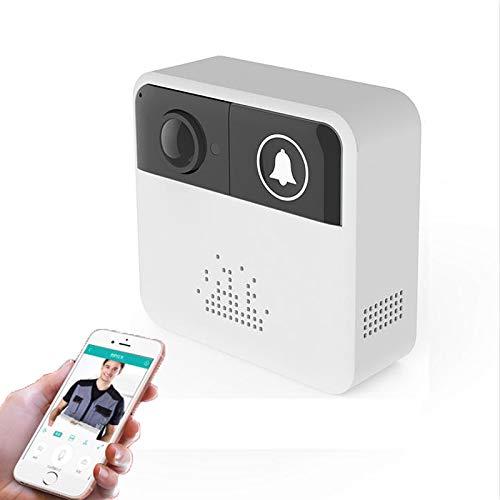 WX Visuele Smart Deurbel met Voice Intercom, Elektronisch Kattenoog, Wifi Mobiele Telefoon Op afstand Bediening, Geschikt voor Thuis, Deur, Muur, Winkel, Villa