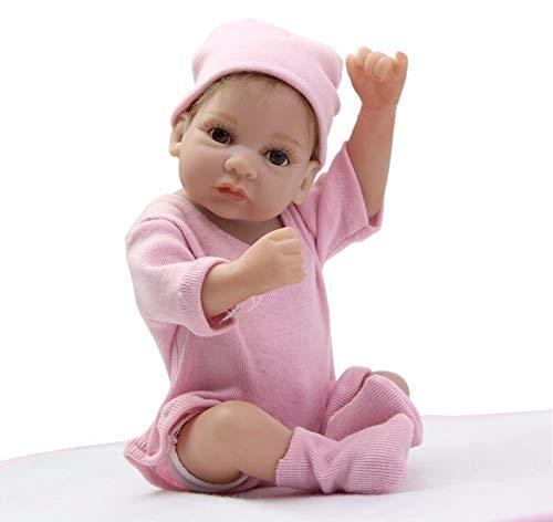 Mini Boneca Bebe reborn corpo silicone completo 27 cm cabelo enraizado bebê realista