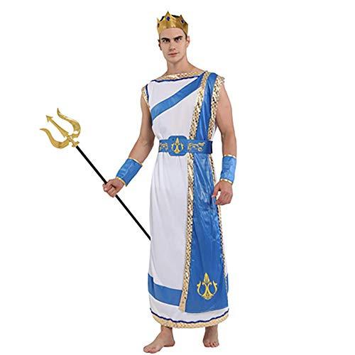 IFANSTYLE Poseidon Arabische koning prins jurk Cosplay kostuum Halloween carnaval partij podium kostuum bal jurk 4 stuk set voor mannen