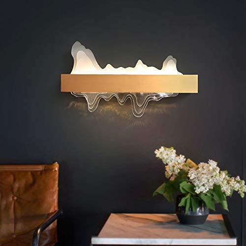 Yangmanini Forma De Acrílico Montaña Lámpara De Pared LED, Luz Decorativa Clásica De Lujo De Fondo Adecuado For La Sala De Estar/Hotel/Pared For TV/Corredor (Size : 60 * 35cm)