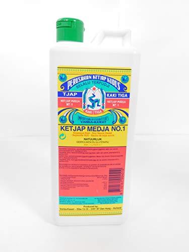 Kaki Tiga Ketjap Medja No. 1 süße dickflüssige glutenfreie Sojasauce 1Liter