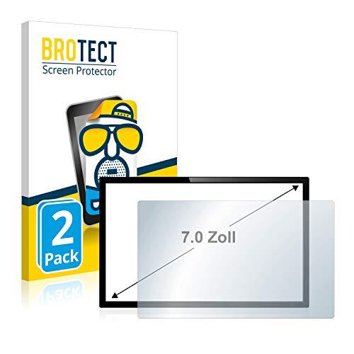 brotect Pellicola Opaca per Sistemadi Navigazione/GPS con 17.8 cm (7 Pollici) [154.8 mm x 87 mm, 16:9] (2 Pezzi) Proteggi Schermo - Antiriflesso