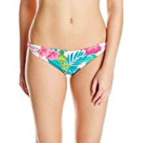 Coco Reef Women's Bikini Bottom Swimsuit with Cinched Back Detail, Congo Flower Multi, Small