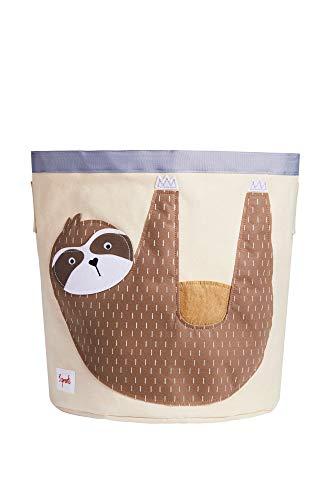 3 Sprouts - Canvas opbergbak - Wasserij en speelgoedmandje voor baby en kinderen, Luiaard