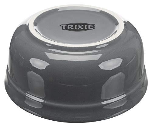 TRIXIE Napf-Set Eat on Feet, 2 × 1,6 l/ø 20 cm, Petrol/hellpetrol/grau/hellgrau