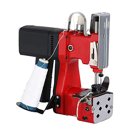 HUKOER Máquina de cierre de bolsas rojas Máquina de coser portátil Máquina...