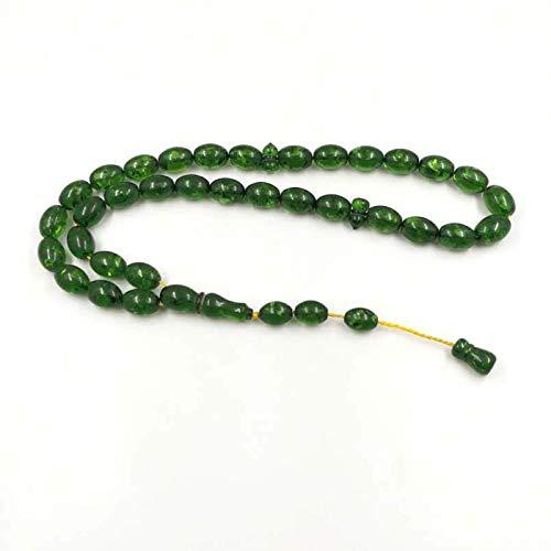 Resina Verde Tasbih 33 Grandes Tamaños De Oración Cuentas Del Rosario Islámico Pulsera Del Hombre Musulmán Mastkhan Joyería Árabe Misbaha
