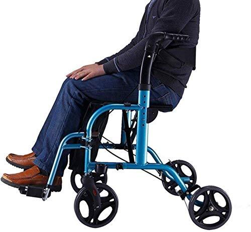 JFZCBXD 4-Rad-Rollen-Walker mit Sitz und Bag - Senioren Folding Rollator Walker - Walker Warenkorb - Mobilitätshilfe für Erwachsene, Senioren, Ältere