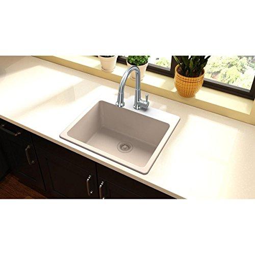 Elkay Quartz Classic ELG2522PT0 Putty Single Bowl Top Mount Sink