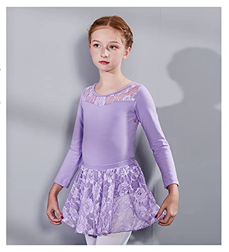 ZRFNFMA CAÍDA DE NIÑOS/Ballet DE Invierno DE Invierno SKURATGIR DONTANDAZA DE Mango PRÁCTICA DE PRÁCTICA DE DANTICAJE DE CORDADOR DE DONSIGUS Light purple-130cm