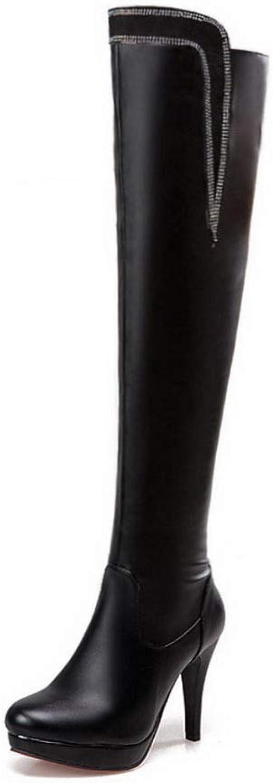 1TO9 Womens Spikes Stilettos Platform Urethane Boots MNS03267