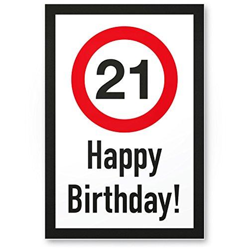 Bedankt! 21 jaar Happy Birthday plastic bord - geschenk 21e verjaardag, cadeau-idee verjaardagscadeau eenpersoons, verjaardagsdeco/party accessoires/verjaardagskaart