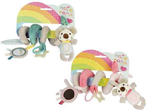 Juguetes Colgantes de Actividad en Espiral para Bebés Cama de Cuna de OSITO de Bebé Alrededor de La Campana de Cascabel Cochecito. (rosa)