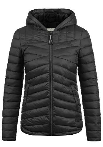 DESIRES Quella Damen Steppjacke Übergangsjacke Jacke Mit Kapuze, Größe:L, Farbe:Black (9000)