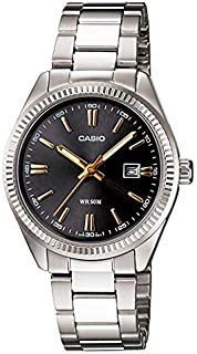 Casio LTP-1302D-1A2VDF Stainless Steel Ladies Watch Black Dial