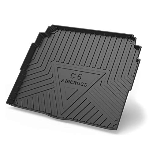 Car Rear Trunk Cargo Floor Mats For Citroen C5 AIRCROSS 2017-2020, Black Rubber Boot Liner Tray Pad Waterproof Mud Back Seat Storage Protector Carpet Accessories