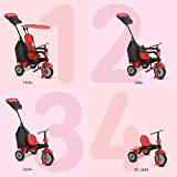 smarTrike Glow 4 in 1 Baby Tricycle, Red