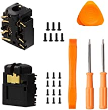 2PCS New Replacement Headphone Jack Plug Port for Xbox One Slim S Wireless Controller, 3.5mm Headset Connector Port Socket Replacement with T6 T8 Screwdrivers