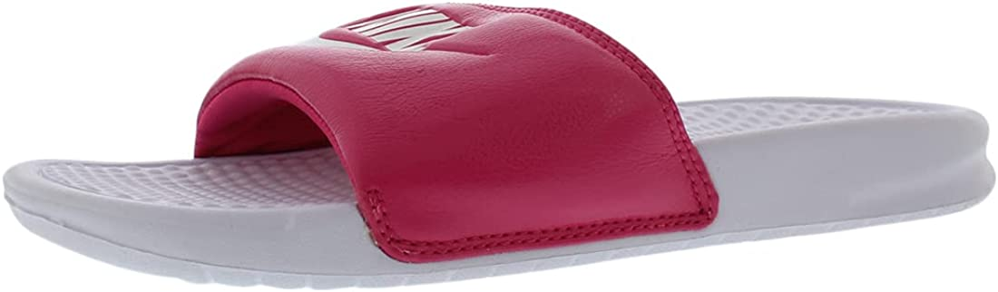 Nike Benassi JDI Womens Shoes Size 9, Color: Pink Force/White