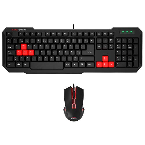 Mars Gaming MCP0 - Pack de teclado y...