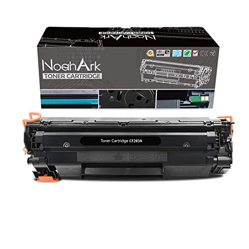 NoahArk Cartuchos de tóner compatibles CF283A 83A para HP Laserjet Pro M201dw M201n M202dw M202n MFP M125a M125nw M125rnw M126a M127fn M127fw M128fn M128fw M25dn 25dw P. Inter(1 Pack Negro)