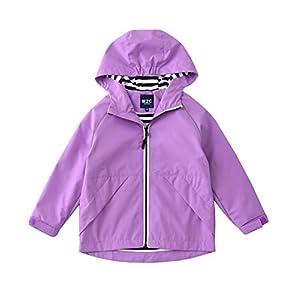 M2C ジャケット キッズ ウインドブレーカー アウター 子供服 撥水 防風 防寒 アウトドア 子供 女の子 パープル 150