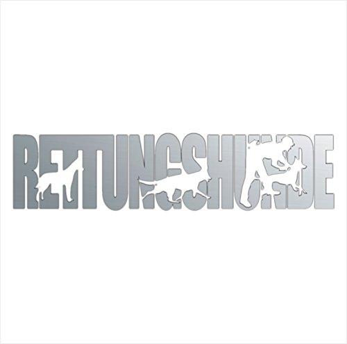 siviwonder Auto Aufkleber RETTUNGSHUNDE Hundesport Dogsport Hundeaufkleber 30cm Silber metallic