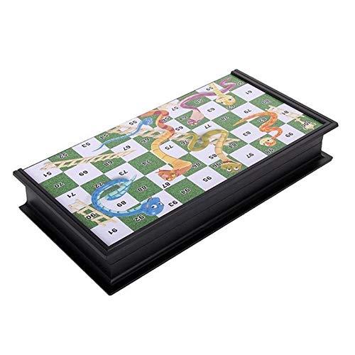 Magnetische Chesss, Opvouwbaar Slang En Ladder Schaken, Educatief Speelgoed Family Party Board Game Best Gift Van De Verjaardag