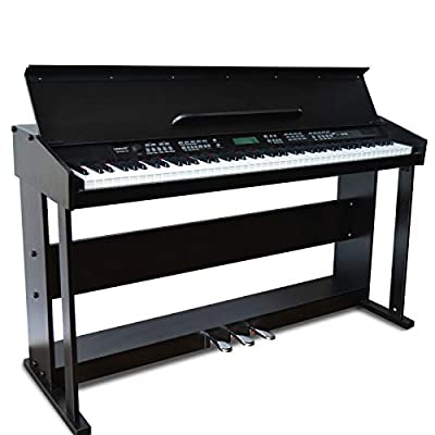LEMAIC Digital Piano Stand, 88 Key Electric Keyboard Piano with 3-Pedal for Beginner/Adults W/Music Stand, include Power Adapter Board Instruction Book Headphone Jack