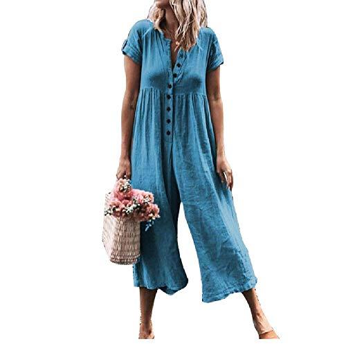 U/A Primavera Tuta Pantaloni Gamba Larga Blu 1 XL