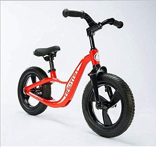 Ping Kinder-Pedallesscooter aufblasbarer Reifen Balance Auto-Wanderer 12 Zoll Magnesium-Legierung Karosserie einteilig Formen,rot