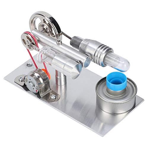 Modelo de motor Mini Stirling, Ventilador tipo T Motor Stirling Generador de energía de aire caliente en miniatura Modelo de enseñanza de laboratorio de física Juguete educativo para niños y adultos