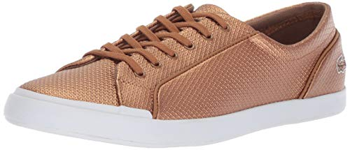 Lacoste Women's Lancelle Sneaker bronze/white 10 Medium US