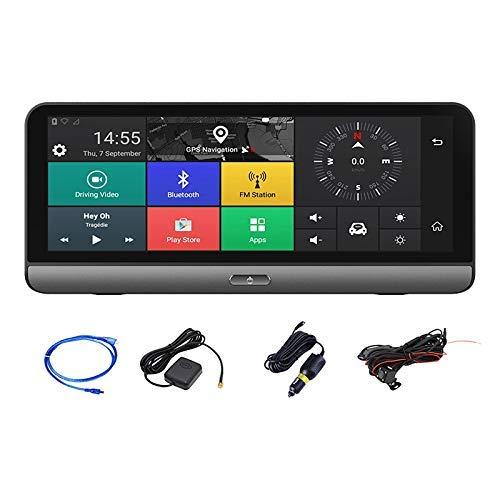 GJNVBDZSF 8 Inch Car Dash CAM, Android 4G WiFi Dual Lens GPS Navig Adas Center Console Dvr Recorder