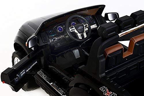 RC Auto kaufen Kinderauto Bild 6: RIRICAR Ford Ranger Wildtrak 4X4 LCD Luxury, Elektro Kinderfahrzeug, LCD-Bildschirm, schwarz - 2.4Ghz, 2 x 12V, 4 X Motor, Fernbedienung, 2-Sitze in Leder, Soft Eva Räder, Bluetooth*