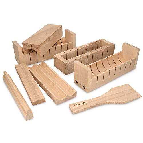Navaris Sushi Set DIY aus Holz - 8teiliges Sushi Maker Kit aus Buchenholz - Sushi...