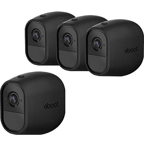 Silicone Skins Cover Protective Skin for Arlo Pro, Arlo Pro 2 Smart Security Wire-Free Cameras 4 Pack (Black) Black Silicon Sleeve Cover