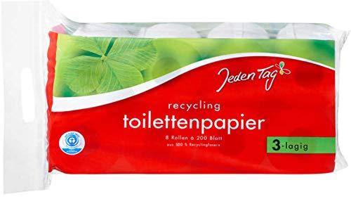 Jeden Tag Recycling Toilettenpapier 3-lagig, 8 Stück