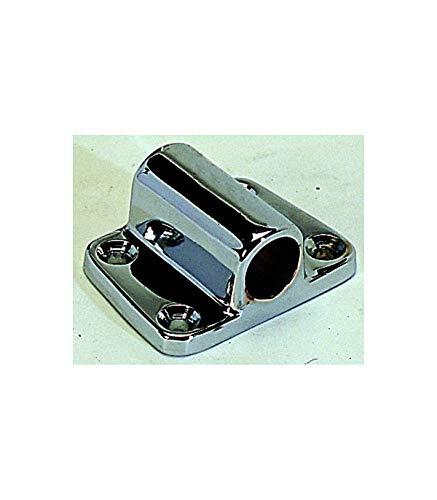 Support à plaquer laiton chromé 14 mm