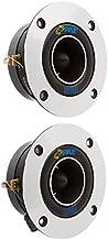 "1"" Car Audio Speaker Tweeter - 300 Watt High Power Super Titanium Tweeter System w/ 3.75 Inch Aluminum Bullet Horn, 2kHz-25 kHz Frequency, 98 dB, 4-8 Ohm, Heavy Duty 20 oz Magnet - Pyle PDBT19 (Pair)"