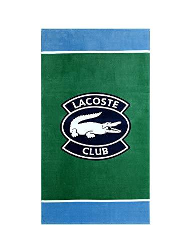 Lacoste Strandtuch mit Club-Logo, 100% Baumwolle, 91 x 183 cm, Grün