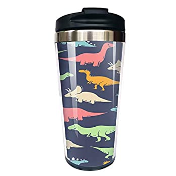 Hasdon-Hill Dinosaurs Stainless Steel 12oz Coffe Mug Tumbler