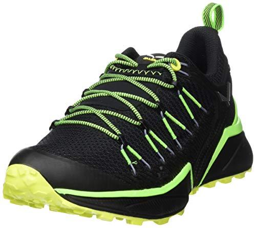 Salewa MS Dropline, Scarpe da Trail Running Uomo, Verde (Fluo Green/Fluo Yellow), 43 EU